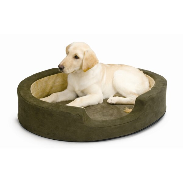 Snuggly Sleeper Heated Bolster Dog Bed by K&H Manufacturing