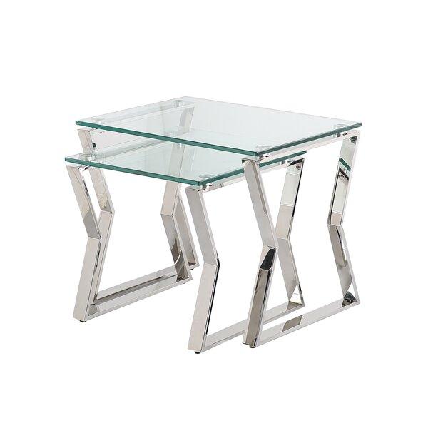 Lalma Glass Top Sled Nesting Tables By Orren Ellis