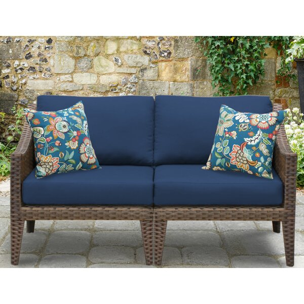 Manhattan Outdoor Loveseat with Cushions by TK Classics TK Classics
