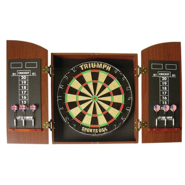 Beau Triumph Sports USA Wellington Bristle Dartboard Cabinet U0026 Reviews | Wayfair