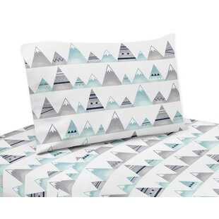 Compare prices Mountains 4 Piece Sheet Set By Sweet Jojo Designs