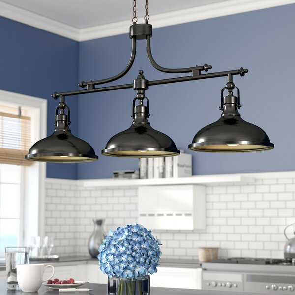 Martinique 3-Light Kitchen Island Pendant by Beachcrest Home