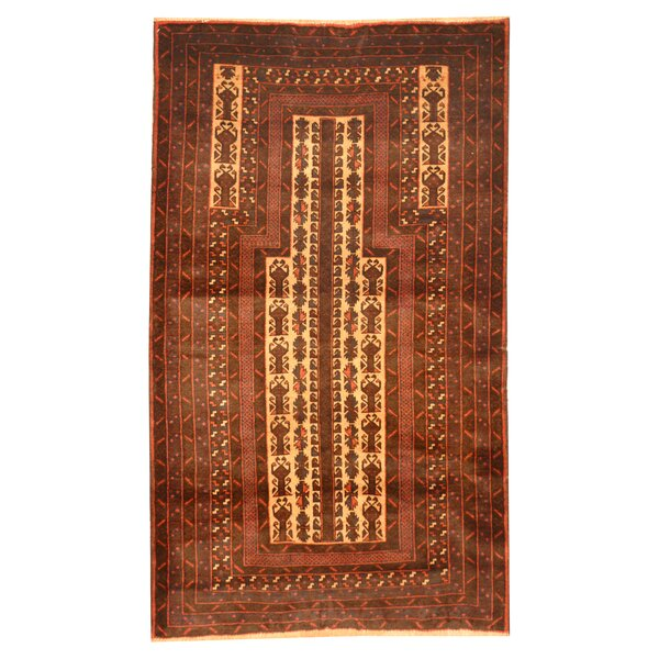 Prentice Hand-Knotted Ivory/Red Area Rug by Isabelline