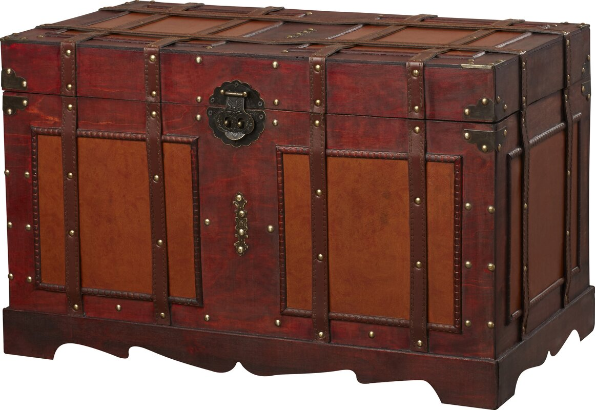 World Menagerie Zemrane Antique Style Steamer Trunk