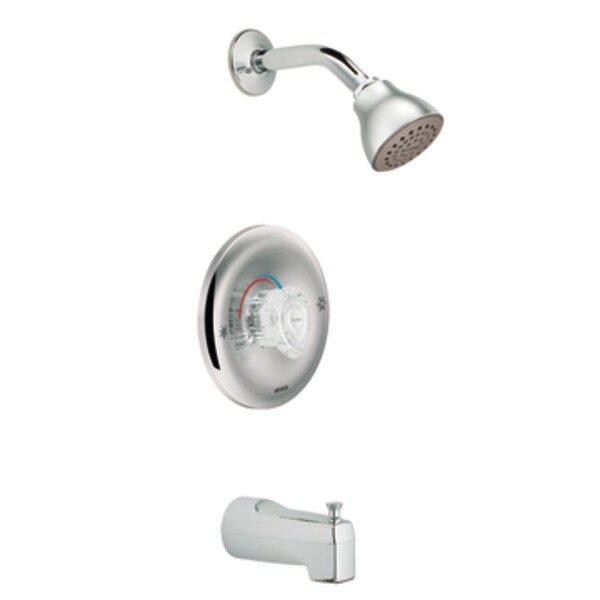 Chateau Tub and Shower Faucet Trim with Knob Handle by Moen