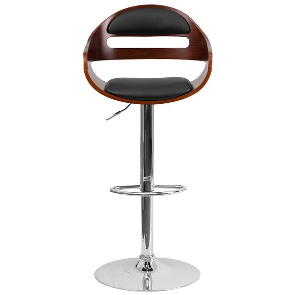 Gunner Adjustable Height Swivel Bar Stool by George Oliver