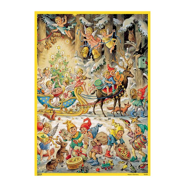 Korsch Elves with Angels Advent Calendar by Alexander Taron