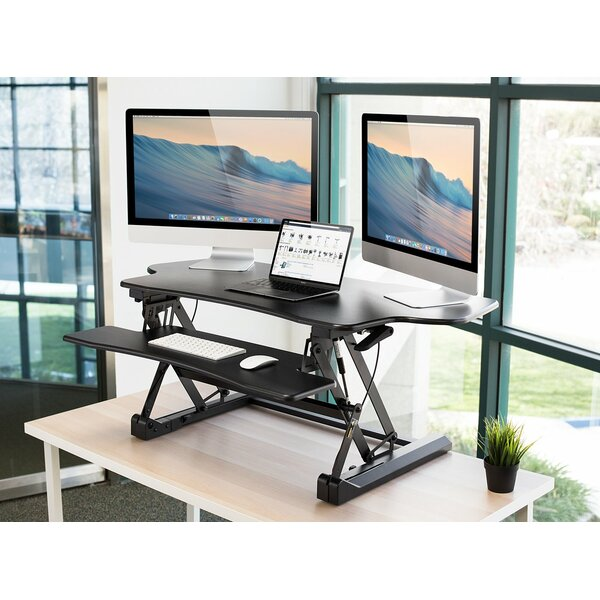 Juniper Electric Standing Desk Converter by Symple Stuff