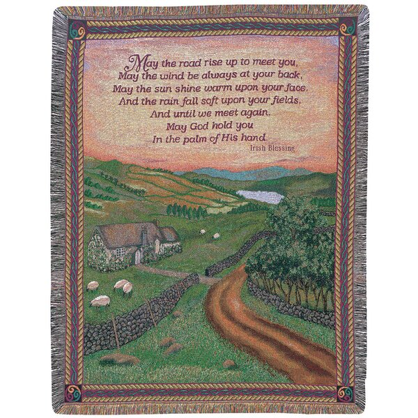 Blessing of Ireland Tapestry Cotton Throw by Manual Woodworkers & Weavers