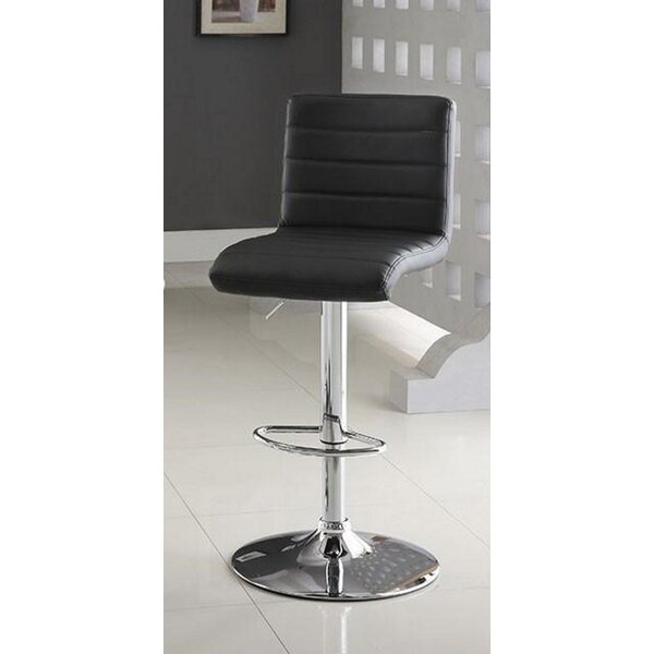 Tinley Swivel Adjustable Height Bar Stool by Orren Ellis Orren Ellis