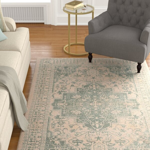 Driffield Hand-Tufted Green/Ivory Area Rug by Charlton Home