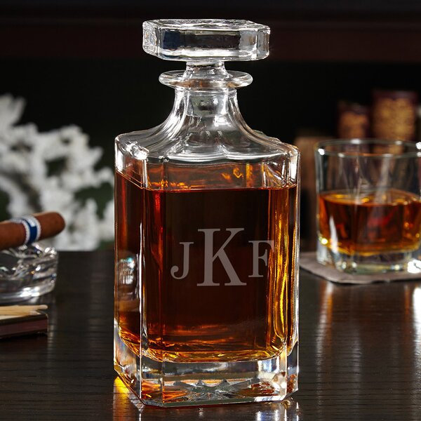 Carson Personalized 26 oz. Whiskey Decanter by Home Wet Bar