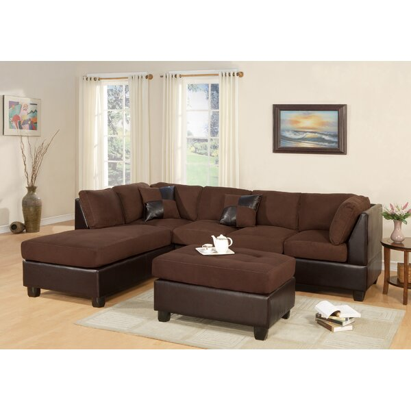 Review Brigida Left Hand Facing Sectional With Ottoman