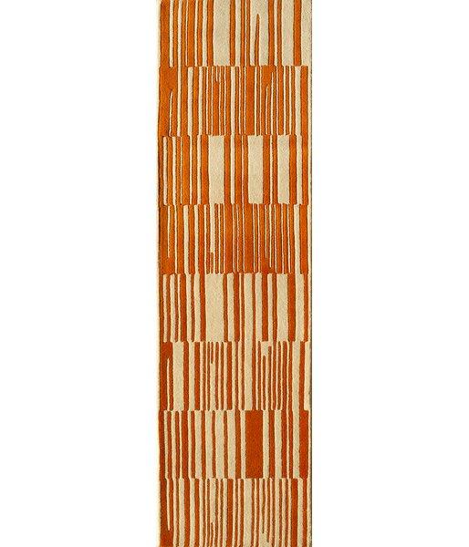Sawyer Hand-Tufted Orange Area Rug by Brayden Studio