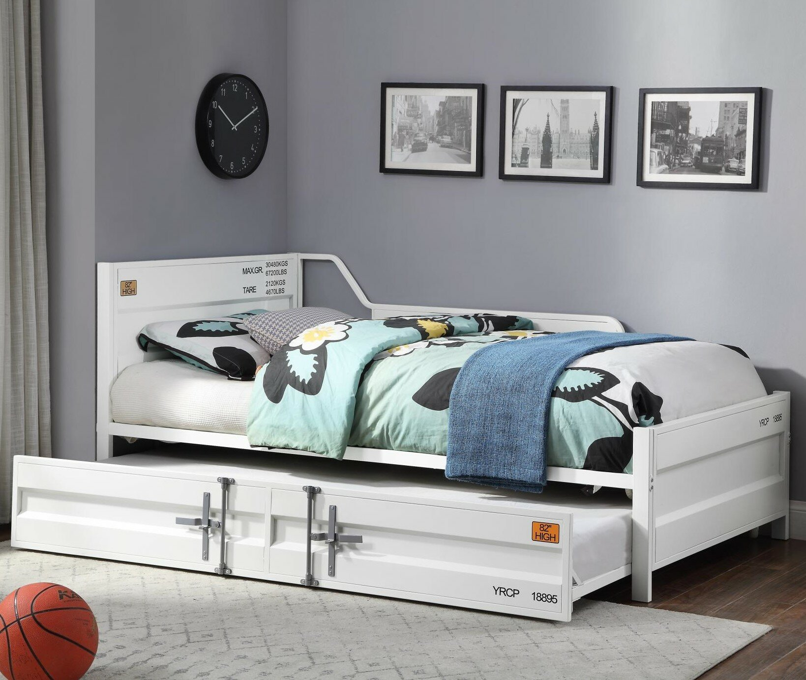 Picture of: 17 Stories Gravesend Twin Bed With Trundle