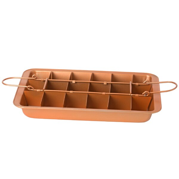 Copper Brownie Non Stick Specialty Pan by Kitchen
