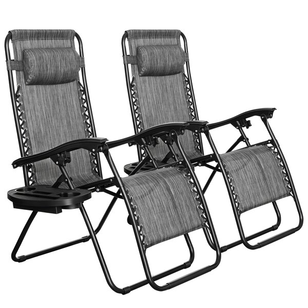 Tattnall Zero Gravity Reclining Chaise Lounge (Set of 2)