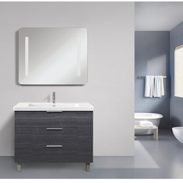 Shaver LED Back-Lit Touch Sensor Bathroom/Vanity Mirror by Orren Ellis