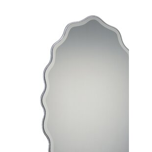 One Allium Way Oval Shape Beveled Front Wall Mirror
