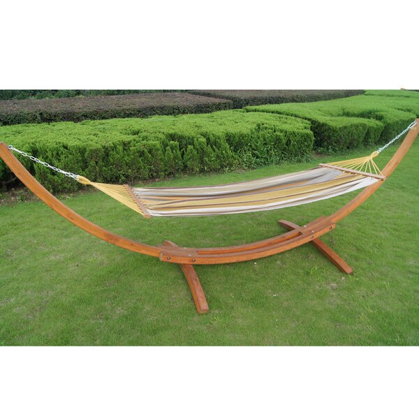 Cotton Hammock with Stand by Prime Garden