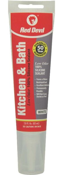 2.8 oz. White Silicone Kitchen and Bath (Set of 12) by Red Devil