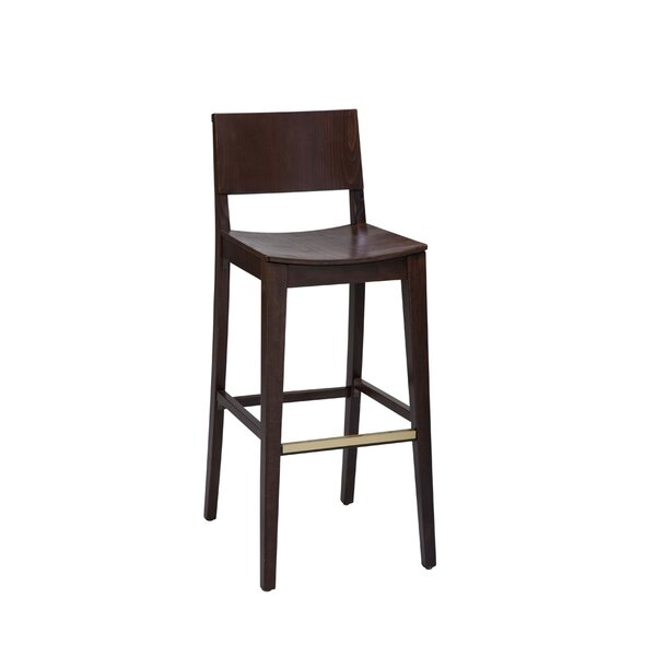 Beechwood Solid Back Bar Stool by Regal