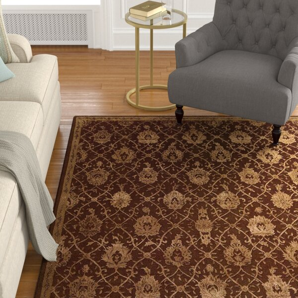 Carsonville Hand-Tufted Chocolate Area Rug by Astoria Grand