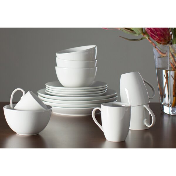 Adam 16 Piece Dinnerware Set, Service for 4 by Tabletops Gallery