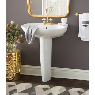 Read Reviews Prominence Vitreous China 26 Pedestal Bathroom Sink with Overflow ByToto
