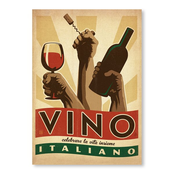 Vino Italiano Vintage Advertisement by East Urban Home