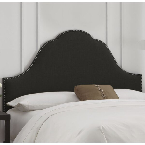 Nail Button Arch Upholstered Panel Headboard by Feminine French Country