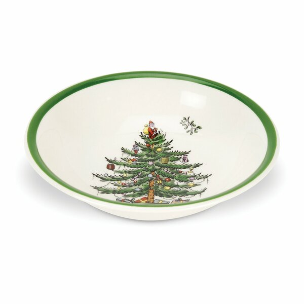 Christmas Tree Oatmeal Cereal Bowl by Spode