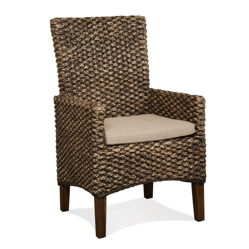 Woven Seagrass Arm Chairs