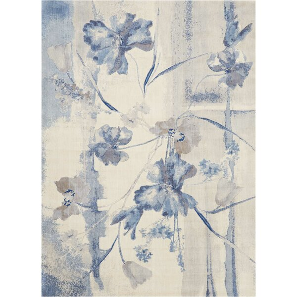 Smithtown Ivory/Blue Area Rug by Andover Mills