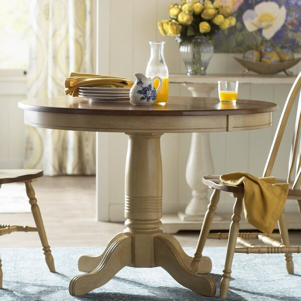 Clyde Solid Wood Dining Table by Alcott Hill