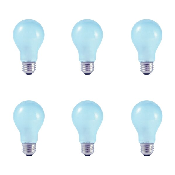 53W E26 Dimmable Halogen Light Bulb Blue (Set of 6) by Bulbrite Industries