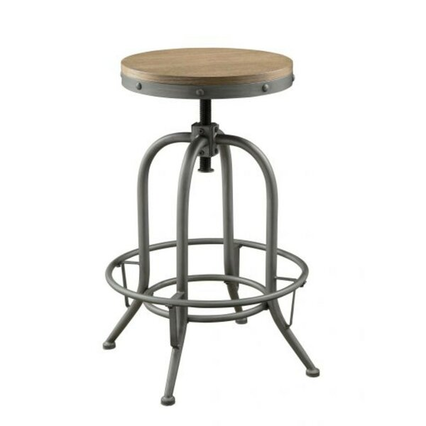 Eggleston Round Adjustable Height Swivel Bar Stool (Set of 2) by 17 Stories
