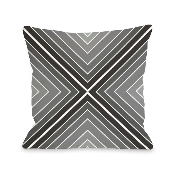Marks The Spot Geometric Throw Pillow by One Bella Casa