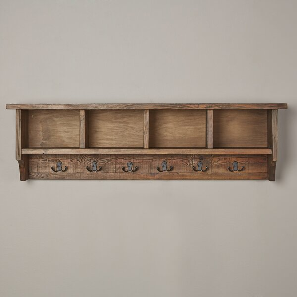 Lachlan Wall Mounted Coat Rack With Storage Cubbies By Beachcrest Home.