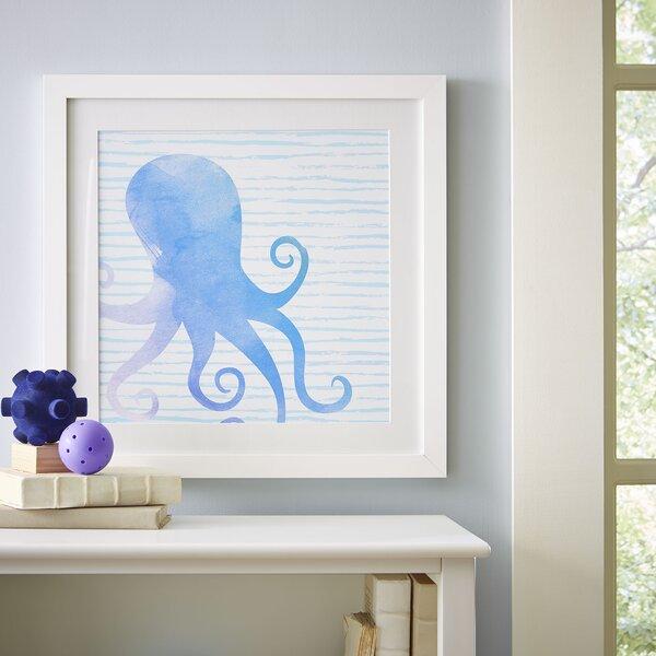 Octopus Watercolor Sea Creatures Framed Print by Birch Lane Kids™