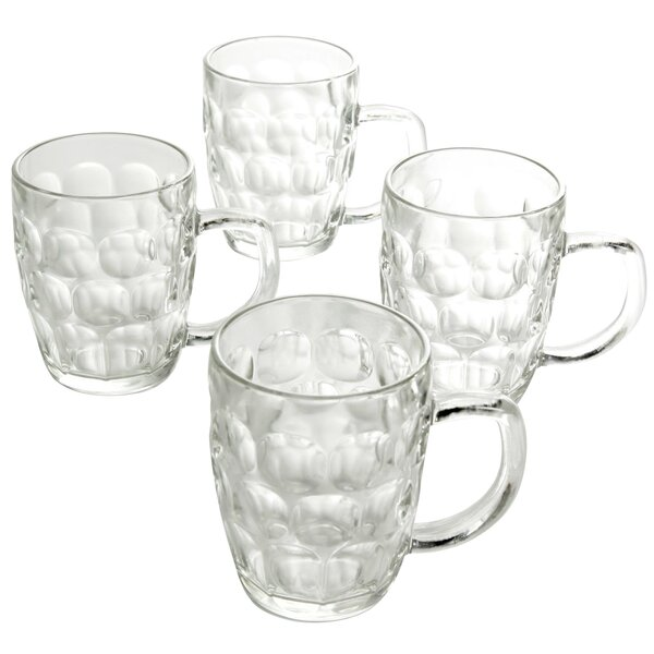 Elora 18 oz. Glass Pint Glass (Set of 4) by Highland Dunes