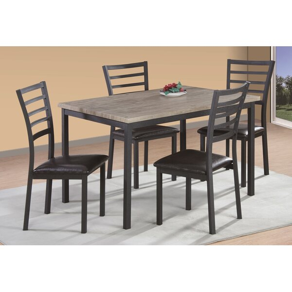 #2 Frankie 5 Piece Dining Set By Zipcode Design Today Only Sale