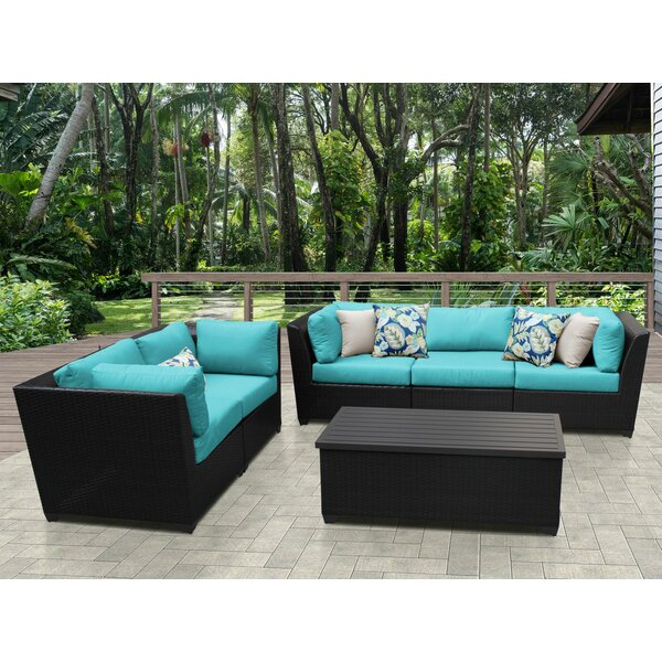Tegan 6 Piece Sofa Seating Group with Cushions by Sol 72 Outdoor