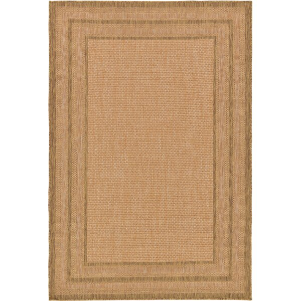 Naples Light Brown Outdoor Area Rug by Bay Isle Home