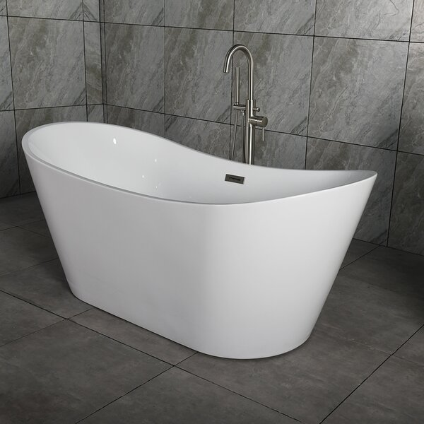 Salmon 59 X 29 Freestanding Bath Therapy Bathtub by Orren Ellis