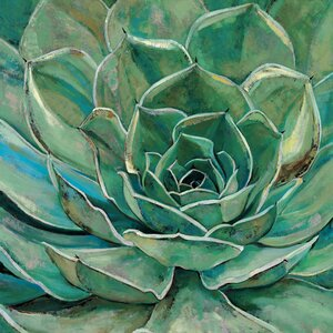 'Agave Flower' Framed Painting Print on Wrapped Canvas by Andover Mills