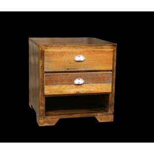 Urban Rustic 2 - Drawer Solid Wood Nightstand in Natural by Utah Mountain