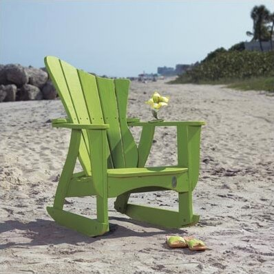 Wave Wood Rocking Adirondack Chair by Uwharrie Chair Uwharrie Chair