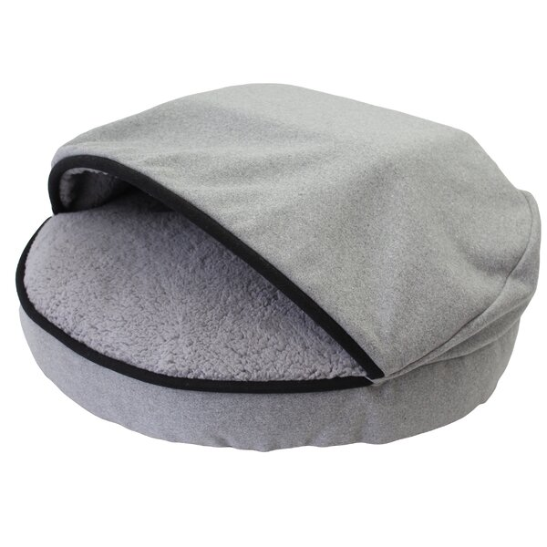Douglass Cozy Felt Sherpa Lined Pet Hooded/Dome by Tucker Murphy Pet