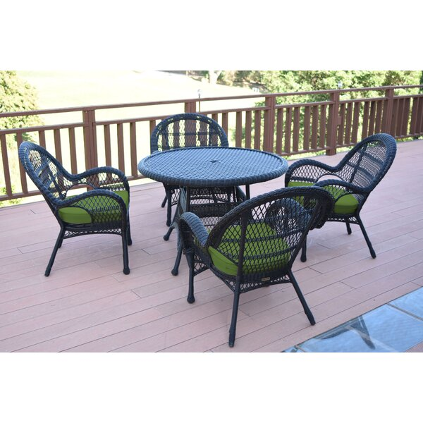 Mangum 5 Piece Dining Set with Cushions by August Grove